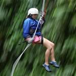 Costa Rica Adventures with Serendipity: commando dropping down canyon walls on ropes  like when you were a kid.