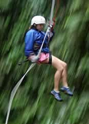 Descending down a high ridge on your vacation will instill confidence that you take home with you.