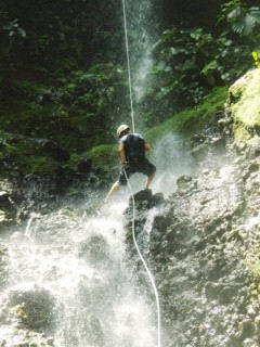 You can't escape getting wet when you canyoneer in the warm tropical streams of Costa Rica.