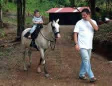 Horseback riding in Costa Rica with kids.