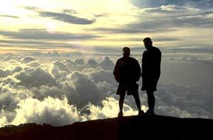 men above the clouds