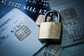 Credit card with padlocks
