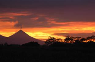 Sunset Arenal volcano