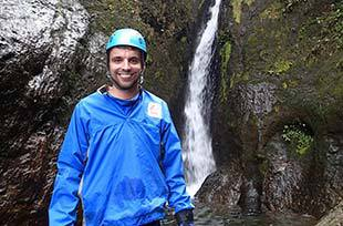 Smiling after first canyoning adventure